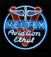 aviation sign - Veltex Aviation Gasoline Neon Sign Dallas Cowboys jersey Neon Real Glass Tube Commercial Neon Light Store Handcrafted x28