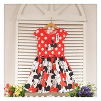 minnie mouse dress - Infant Dress Minnie Mouse Dot Patten Ruffle Dresses Lovely Bowknot Dresses Infant Clothes Casual Cloting For Summer DR19