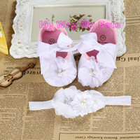 baby christening shoes boys - Christening baptism newborn baby girl shoes headband set toddler booties baby ballerina little girl baby walker
