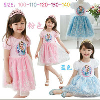 Cheap frozen lace kids dresses Best elsa tutu dresses