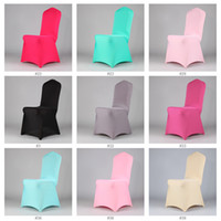 Wholesale Wholesales g Elastic Polyester Spandex Lycra Chair Cover Hotel Wedding banquet Chair Cover CC