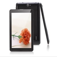 al por mayor android tablet with sim card slot-5pcs / Lot de 7 pulgadas Tablet PC 3G MTK6572 Dual Core 512 MB / 4 GB ranura para tarjeta SIM de doble cámara de blueetooth GPS 3G phablet