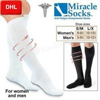 Wholesale DHL Miracle Socks Compression Stockings Soothe Tired Achy Legs Feet Anti Fatigue For Unisex Women Men Colors Big Factory Direct