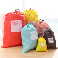 drawstring shoe bag - 4pcs set Thick waterproof Travel Storage Bag Underwear Organizer Travel drawstring bags Shoe Laundry Lingerie Makeup Pouch