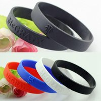 Wholesale P0601 For Tracy McGrady Basketball Star Silicone Bracelet Sport Men Embossed Wristband Bangles