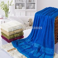 bath towel bulk - 2pcs cm Bamboo Fiber Bath Towel Bulk Beach towel Spa Salon Wraps Terry Towels TW
