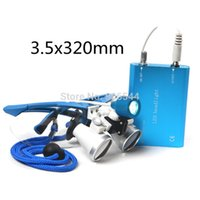 Wholesale Portable LED headlight lamp X320mm Blue Dentist Dental Surgical Medical Binocular Loupes HOT SALE AA