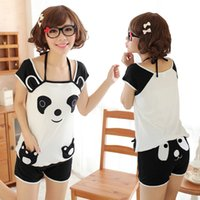 Wholesale New Fashion spring summer plus size pajamas for women totoro costume women pyjama set panda cartoon pyjama cotton sleepwear