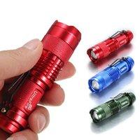 Wholesale Ultrafile Mini flashlight CREE Q5 LM LED Flashlight Modes Zoomable LED Torch Light