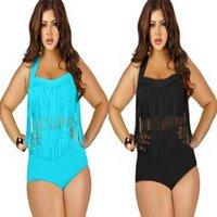 ladies suits - 2015 Newest Plus Size Swimsuits Tankini Color Tassels Bikini High Waist Swimsuit Bathing Suit Sexy Swimming Suit Ladies