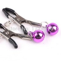Wholesale Adult sex products sex toys copper bells milk folders men and women slaves dog supplies Tools shackles nipple clamps