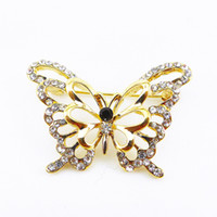 Celtic Unisex Gift Korean Accessories Wholesale Noble Crystal Butterfly Brooch Pin Brooch For Delicate Banquet Wedding Dress Scarf Clip