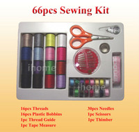 sewing accessories - 66 Portable Sewing Kit Set for Home DIY Sewing Accessories with Sewing Threads Bobbins Scissors and Needle Lead Free