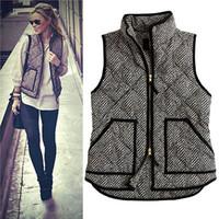 argyle vest womens m - Women Winter Vest Waistcoat Womens Long Vest Jacket Sleeveless Down Cotton Warm Vest Female
