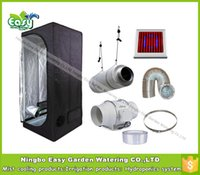 Wholesale Complete indoor grow tent kits Size x80x160CM x2 x5 with W LED grow light and ventilation equipment