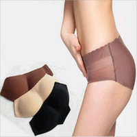 butt pads - Sexy Lady Curvaceous Underpant Woman Padded Buttock Underwear Fashion Girl Lift Hip Bum Butt Enhanced Buttocks Pads Panties S M L XL colors