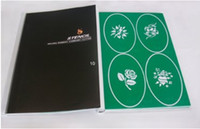 Wholesale Temporary Airbrush Tattoo Stencil Template Booklet of the Flower series designs