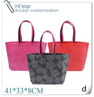 Wholesale 41 CM Eco Friendly Non Woven Shopping Bag Reusable Folding Grocery Tote Gift Hand Bag
