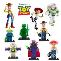 Plastics aliens gifts - 2015 Toy Story Super Heroes The Avengers Building Blocks Woody Buzz Aliens Lightyear Toy Story mini figures for children s gift