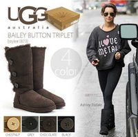 shoes australia - 2015 australia ugglis snow boots real sheepskin for women winter warm shoes outdoor fashion boots with original boxes