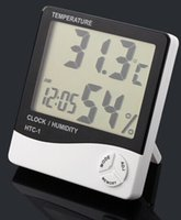 Wholesale Electronic Multi function New LCD Digital Temperature Tester Wireless Thermometer Hygrometer Temperature Humidity Meter Clock