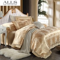 venda por atacado bedspread-cama de casamento Atacado-Luxury conjunto de roupa de cama Colcha / lençol / edredão cobrir bege / rosa / vermelho / Queen estilo ocidental / king size