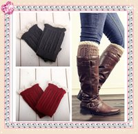 Wholesale Lace knitted booty Gaiters Boot Cuffs Leg Warmers women girls leg warmers lace trim boot cuffs short boot socks knitted leg warmers S499