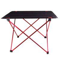 Wholesale Ultra light Aluminium Alloy Portable Foldable Folding Table Desk for Camping Outdoor Picnic