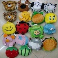 Wholesale 100pcs Portable animal cartoon Shaped Plush CD DVD Storage Bag Random Color hql