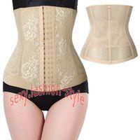 authentic steel boned corsets - Spiral Steel Boned Women Authentic Full Steel Boned Underbust Waist Cincher Shaper Body Control Corset Black Beige