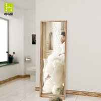ash wood furniture - Ha Wusi Japanese style furniture body floor length mirror dressing mirror full length mirror ash wood framed mirror