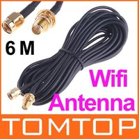 Wholesale 6M Antenna RP SMA Extension Cable WiFi Wi Fi Router Drop Shipping