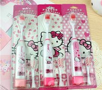 Wholesale Hot sale wholesales Hello Kitty Electric Toothbrush with1 replacement toothbrush Head Oral hygiene escova de dente eletrica