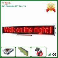 led programmable display board - Message LED Sign Moving Desk Board Programmable Display Red Rechargeable Mulit language DHL EMS