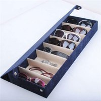 Wholesale High Quliaty Compartment Eyeglass Eyewear Sunglasses Storage Box Case Tray Display Holder