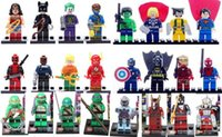 Wholesale 24pcs Super Heroes Avengers Iron Man Hulk Batman WolverineTeenage Mutant Ninja Turtles Building Blocks Minifigures
