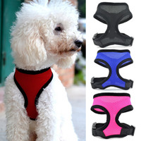 other dog harness - Mesh Pet Dog Harness Puppy Comfort Harness Dogs Vest Lead Dog Clothing Pet Clothing S M L XL MHM475