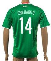 wholesale mexico - Thai Quality Customized new season Mexico home CHICHARITO Soccer Jerseys mens Athletic Outdoor Cheap AQUINO G DOS SANTOS wear