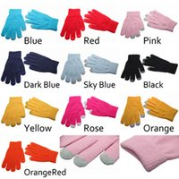 Wholesale 50 Magic Touch Screen Gloves Smartphone Texting Stretch Adult One Size Winter Knit