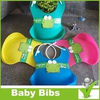 baby food peaches - EASY WASHABLE CRUMB FOOD CATCHER ROLL TPE BABY BIBS infant feeding kid bib FUNNY DESIGN DHL