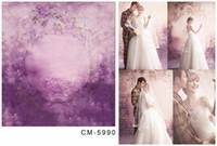 Wholesale Custom X7FT Purple Dream Background For Studio Photography Muslin Computer Printed Digital Cloth Vinyl Backdrop Senior Backdrops