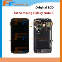 note 2 lcd screen - for Samsung Galaxy Note II Original LCD Touch Screen Digitizer Assembly Front Housing N7100 N7105 i317 i605 L900 T889 R950