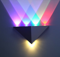art deco wall mirror - 5W Triangle LED Wall Light Sconces Mirror Lamp Backlight Decorative llight LED Corridor light Epistar energy saving LED lamp bar KTV room
