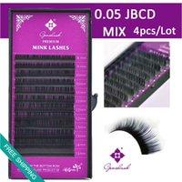 apply false eyelashes - 0 JBCD Mix lengths eyelash extension D Apply Volume Lashing Super Thin Soft False eyelashes