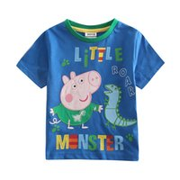 Wholesale Children Kids Boys Short Sleeve T Shirt Boy T shirt Cartoon Cotton T Shirt Children Tops Summer T Shirt C4495
