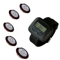 Wholesale SINGCALL wireless waiter pager calling system for coffee shop restaurant hotel of table buttons and pc of wrist watch reciever