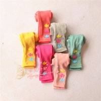 Cheap 2014 New Winter Children's Leggings Girl Small Fish Printing Flocking Thickening Render Pants Candy Color