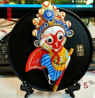 art beijing - Peking Opera ornaments exhibition plate Chinese style features arts and crafts gifts Beijing souvenirs Strange new crafts