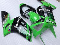 zx6r fairing - NEW TOP quality INJECTION Mold ABS fairings gift Bolts FAIRING Set For KAWASAKI ZX6R ZX Ninja R Kit ELF BLACK GREEN