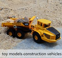 Wholesale alloy slide car toy models construction vehicles Loading and unloading trucks Children s favorite